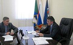 В. Озеров провел вХабаровске прием граждан
