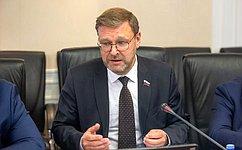 К.Косачев: Российско-французский парламентский доклад планируется представить впреддверии 75-летия Победы
