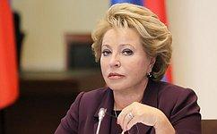 Без демократии неможет быть безопасности ипроцветания— В.Матвиенко