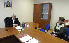 Н. Тихомиров провел прием граждан поличным вопросам