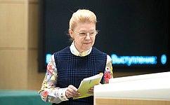 Е. Мизулина проинформировала палату оработе вкачестве представителя СФ вВерховном Суде