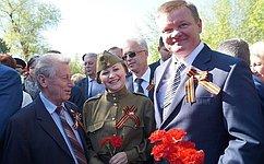 Л. Бокова приняла участие вторжественных мероприятиях, приуроченных коДню Победы, которые прошли вСаратове