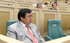 А. Акимов выступил назаседании СФ спредложениями поАрктике