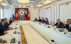 Председатель СФ, Председатель Совета МПА СНГ В.Матвиенко встретилась сПрезидентом Киргизии А.Атамбаевым