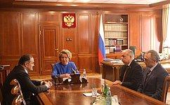 Председатель СФ обсудила сврио Главы Республики Дагестан социально-экономическое развитие региона