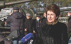 Е. Алтабаева приняла участие вторжественном мероприятии наСапун-горе