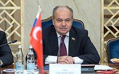 Deputy Speaker Ilyas Umakhanov's meeting with Chairman oftheTurkish Parliament's Committee onForeign Affairs Volkan Bozkir