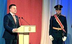 А.Пронюшкин посетил праздничный концерт, посвященный Дню защитника Отечества, ивручил награды