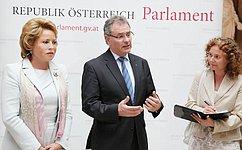 Парламентарии России иАвстрии условились участвовать вразвитии контактов навсех уровнях