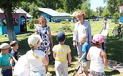 Т. Гигель встретилась сколлективом детского оздоровительного лагеря «Космос»