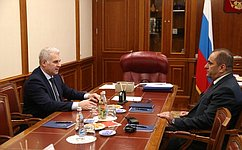 Руководитель Аппарата СФ С.Мартынов провел встречу сглавой Аппарата Национального Собрания Армении А.Сагателяном