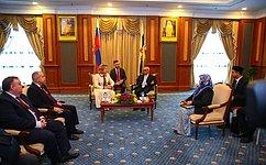 В. Матвиенко: Сотрудничество законодателей России иБрунея вносит большой вклад вразвитие двусторонних отношений