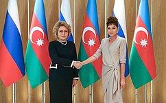 Председатель СФ В.Матвиенко провела встречу сПервым вице-президентом Азербайджанской Республики М.Алиевой