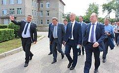 В. Лаптев посетил ряд важных объектов Куйбышевского района Новосибирской области