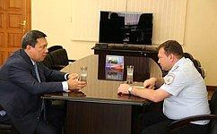 В. Полетаев встретился сруководителями подразделений федеральных органов государственной власти вРеспублике Алтай