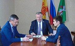 В. Николаев совершил рабочую поездку вАликовский район Чувашской Республики