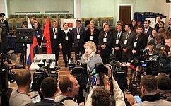 В.Матвиенко: Сегодня мы выбираем будущее нашей страны, каждой семьи, каждого человека