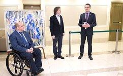 ВСовете Федерации открылась выставка картин художника Н.Добрина