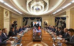 Председатель СФ В.Матвиенко встретилась сглавой Парламента Киргизской Республики Д.Джумабековым