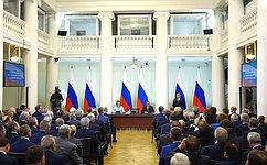 В.Путин провел встречу счленами Совета законодателей Российской Федерации