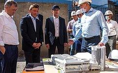 А. Турчак иА. Артамонов ипосетили стройплощадку Дворца спорта вКалуге