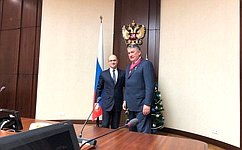 Ю. Воробьеву вручен Орден «Зазаслуги перед Отечеством II степени»