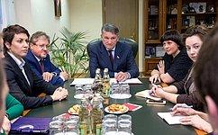 Ю. Воробьев: Молодые парламентарии могут способствовать дальнейшему сближению регионов России иБелоруссии
