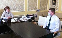 Т. Гигель встретилась смолодыми специалистами, работающими влесной отрасли Республики Алтай