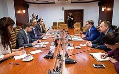 К.Косачев встретился суполномоченным Правительства ФРГ посотрудничеству сРоссийской Федерацией Г.Эрлером