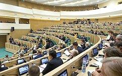 На«парламентской разминке» сенаторы рассказали обучастии вмеждународных мероприятиях иобсудили поправки взаконодательство