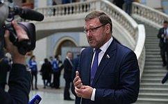 Мы рассчитываем, что внешнеполитические «сигналы» Послания услышат наЗападе— К.Косачев