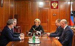 Председатель СФ В.Матвиенко провела встречу сгубернатором Пензенской области И.Белозерцевым