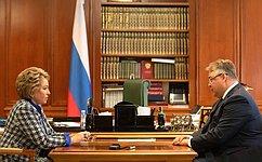Создание комфортной среды вовсех населенных пунктах Ставрополья должно стать приоритетом развития края— В.Матвиенко