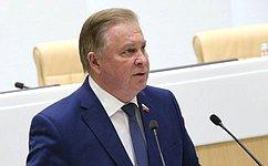 В. Наговицын: В2020году Комиссия Правительства РФ позаконопроектной деятельности рассмотрела 142 проекта законов, авторами которых были сенаторы