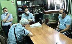 А. Башкин обсудил поправки вКонституцию РФ сактивистами Астраханского отделения «Всероссийского общества слепых»