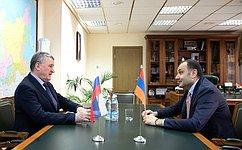 Посольство Армении вРоссии активно содействует процессу координации российско-армянских межпарламентских связей— Ю.Воробьев
