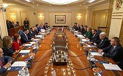 Председатель СФ В.Матвиенко встретилась сПредседателем Национального собрания Армении А.Мирзояном