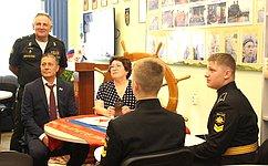 Л. Талабаева: ВоВладивостокском филиале Нахимовского военно-морского училища созданы отличные условия для подготовки кадетов