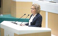 В.Матвиенко рассказала оключевых направлениях работы сенаторов ввесеннюю сессию