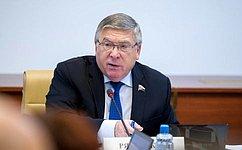 В. Рязанский принял участие взаседании Комиссии при Президенте Российской Федерации поделам ветеранов