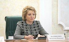 Председатель СФ В. Матвиенко провела первое заседание общественного совета федерального проекта «Здоровье– детям»