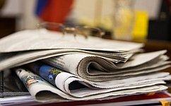 Поздравление Председателя Совета Федерации В.Матвиенко сДнем российской печати