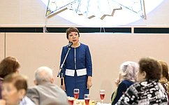 В.Зганич встретилась врегионе светеранами Великой Отечественной войны, тружениками тыла, детьми войны