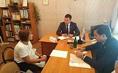 А.Пронюшкин провел прием граждан воВладимирской области