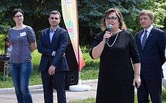 Л.Тюрина приняла участие воткрытии профильной смены вдетском Центре «Колос» Рязанской области