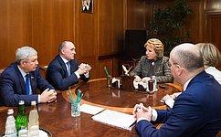 Председатель СФ иГубернатор Челябинской области обсудили перспективы развития региона