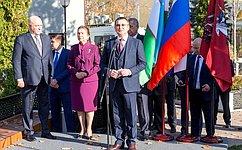 Н.Федоров принял участие вцеремонии открытия памятника первому Президенту Республики Узбекистан И.Каримову