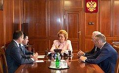 В. Матвиенко иД.Миронов обсудили перспективы развития Ярославской области