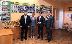 М. Кавджарадзе ознакомился сходом ремонтных работ вшколах Липецкой области