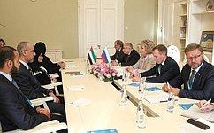 Председатель СФ Валентина Матвиенко провела встречу сПредседателем Федерального национального совета ОАЭ Амаль Аль-Кубейси